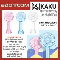 [READY STOCK] KAKU KSC-346 Aromatherapy Portable Handheld Fan, 3 adjustable speeds with backlight and built in battery suitable for office, home, dorm, library, car, camping, travel, gym and other outdoor activities