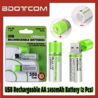 [Ready Stock] USB Rechargeable AA 1450mAh Battery (2 Pcs)