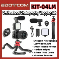 [Ready Stock] KIT-04LM Professional Photography Vlogging Kit with Bluetooth Remote for Youtuber, TikTok, Smule, Influencer, Online Study, Home Schooling, Video Streaming, ZOOM Meeting, Google Meet and etc