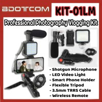 [Ready Stock] KIT-01LM Professional Photography Vlogging Kit with Bluetooth Remote for Youtuber, TikTok, Smule, Influencer, Online Study, Home Schooling, Video Streaming, ZOOM Meeting, Google Meet and etc
