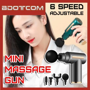 [Ready Stock] Adjustable 30W 6 Speed Mini Electric Percussive Massager Muscle Massage Equipment