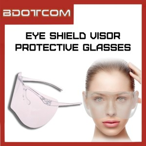 [Ready Stock] Transparent Durable Acrylic Eye Shield Visor Safety Goggles Mask Face Shield Protective Glasses
