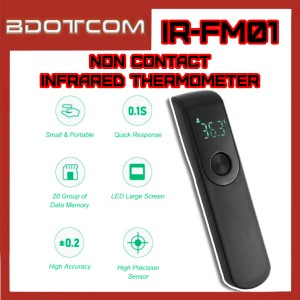 [Ready Stock] IR-FM01 Mini Handheld Thermometer Straight Forehead Non Contact Infrared Thermometer