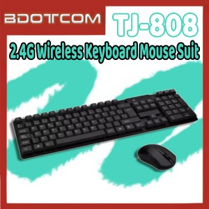 [Ready Stock] TJ-808 2.4G Wireless Keyboard Mouse Suit Keyboard Mouse Set for Computer / PC / Laptop / Desktop PC