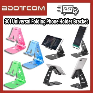 [Ready Stock] 301 Universal Folding Adjustable Mobile Phone Holder Bracket for Samsung / Xiaomi / Huawei / Oppo / Vivo / Realme / OnePlus