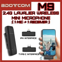 [Ready Stock] M9 2.4G Lavalier Wireless Mini Microphone (Type-C / Lightning)