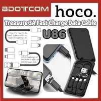 [Ready Stock] Hoco U86 Treasure 3A Fast Charge Data Cable with Storage Box for Smartphone / Laptop / Samsung / Huawei / Xiaomi / Oppo / Vivo / Realme / OnePlus
