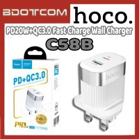 [Ready Stock] Hoco C58B PD20W+QC3.0 Fast Charge Wall Charger for Samsung / Xiaomi / Huawei / Oppo / Vivo / Realme / OnePlus