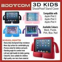 [READY STOCK] High Quality Heavy Duty Shockproof Protection Drop Resistance Silicone Cover Standing Angle Case with Comfortable Grip Hand Holder compatible with Apple iPad 2 iPad 3 iPad 4 iPad 2nd Gen 3rd Gen 4th Gen