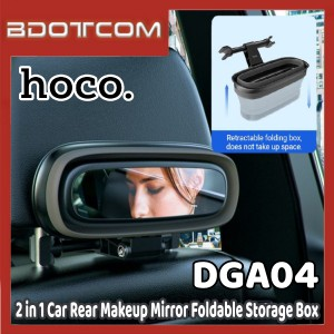 [Ready Stock] Hoco PH35 Lucky Journey 2 in 1 Car Rear Pillow Makeup Mirror Foldable Storage Box