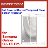 Full Covered Curved Tempered Glass Screen Protector for Samsung Galaxy C9 / C9 Pro (White)
