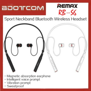 Original Remax RB-S6 Sports Neckband Bluetooth Wireless Headset