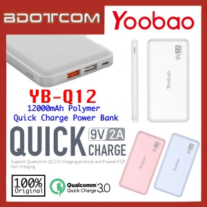 Original Yoobao YB-Q12 12000mAh Quick Charge Polymer Power Bank