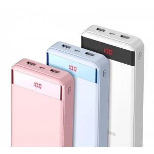 Original Yoobao YB-M20 Pro 20000mAh Dual USB Port Power Bank with Indicator
