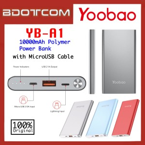 Original Yoobao YB-A1 Polymer 10000mAh Power Bank with MicroUSB Cable