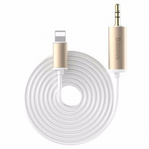 Original Baseus B37 8 Pin to 3.5mm Male 1.2m Audio Cable (White)