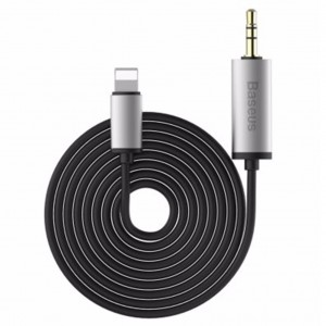 Original Baseus B37 8 Pin to 3.5mm Male 2m Audio Cable (Black)