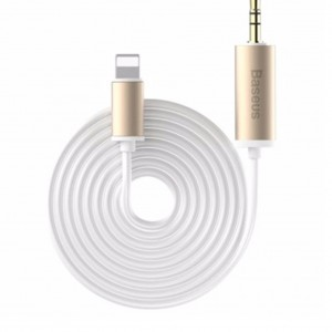 Original Baseus B37 8 Pin to 3.5mm Male 2m Audio Cable (White)