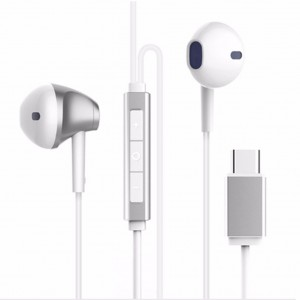 Baseus B51 Digital Type-C Wired Control Earphone (White)