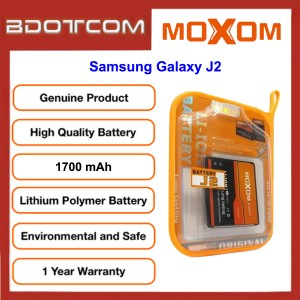 Original MOXOM High Capacity Battery 1700 mAH for Samsung Galaxy J2