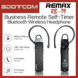 REMAX T9 RB-T9 Business Remote Self-timer Bluetooth 4.1 Wireless Headphone For Samsung / Apple / Huawei / Xiaomi / Oppo / Vivo / Realme