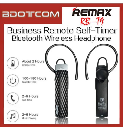 REMAX RB-T9 Business Remote Self-timer Bluetooth 4.1 Wireless Headphone