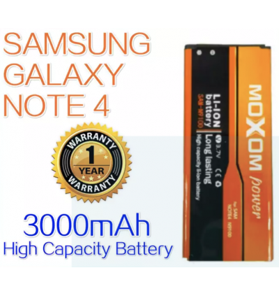 Moxom Replacement Battery for Samsung Galaxy Note 4 N910