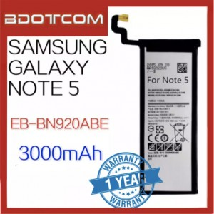 High Quality Replacement Battery For Samsung Galaxy Note 5 EB-BN920ABE 3000mAh