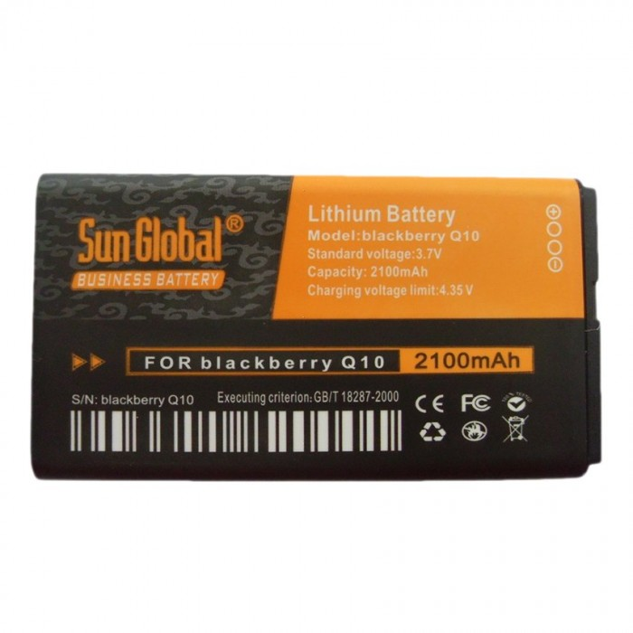 Sun Global NX1 High Quality Lithium Battery 2100 mAh for Blackberry Q10 -