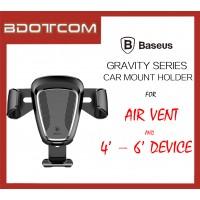 Baseus Gravity series 360' Rotation Air Vent Car Mount Phone Holder for iPhone, Huawei, Samsung, Oppo, Vivo, Xiaomi, Nokia, Sony, LG, HTC, Motorola, Lenovo