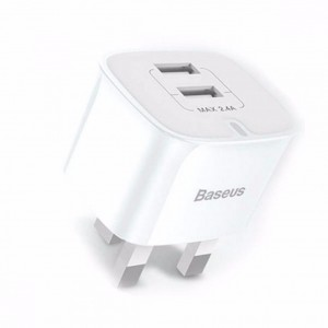 Baseus Funzi Series 2.4A Dual USB Smart Charger