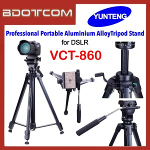 Yunteng VCT-860 Professional Portable Aluminium AlloyTripod Stand for DSLR