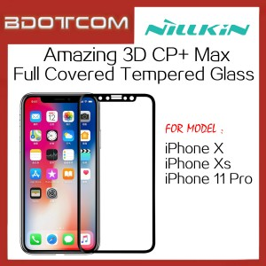 [CLEARANCE] Nillkin Amazing 3D CP+ Max Full Covered Tempered Glass Screen Protector for Apple iPhone X / Xs / 11 Pro