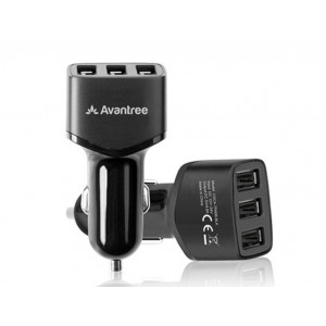Avantree 4.8A 3 USB Port Car Charger - TR408
