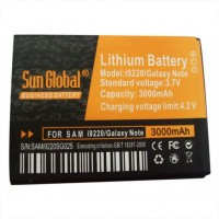 Sun Global Samsung Note N7000 Battery 3000mAh Black and orange
