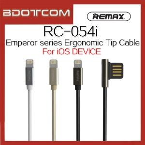 Original Remax RC-054i Emperor series Ergonomic Tip L Shape Data Cable