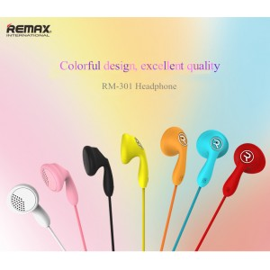 Original Remax RM-301 Candy series Stereo In-Ear Wired Headphone with Mic