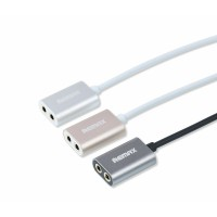 Original Remax RL-S20 3.5mm Dual Port Aux Cable