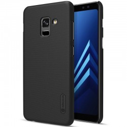 Nillkin Super Frosted Shield Cover Sand Case for Samsung Galaxy A8 2018 (Black)