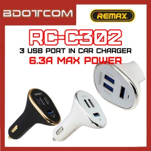 Remax RC-C302 6.3A 3 USB Port In Car Charger