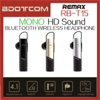 Original Remax RB-T15 Mono HD Voice Bluetooth Wireless Headphone