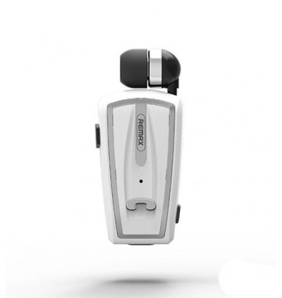 Original Remax RB-T12 Mono Bluetooth Wireless Retractable Clip On Headphone