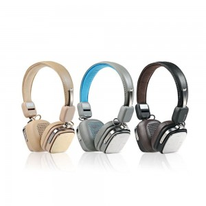 Original Remax RB-200HB Bluetooth Wireless Leather Headphone