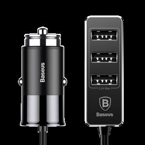 Baseus Enjoy Together series 1.5m 4 USB Port Patulous Smart Car Charger