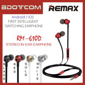 Remax 610D RM-610D Stereo In-Ear Earphone Headphone With Mic