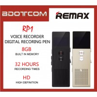 Original Remax RP1 8GB Digital Audio Voice Recorder with Music Player