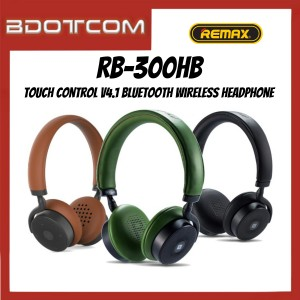 Remax RB-300HB Touch Control V4.1 Bluetooth Wireless Headphone with 3.5mm Audio Jack