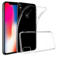 Ultra Thin Silicone TPU Case compatible with Apple iPhone X (Clear)
