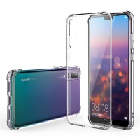Ultra Thin Silicone TPU Case compatible with Huawei P20 Pro (Clear)