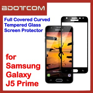 Full Covered Curved Tempered Glass Screen Protector for Samsung Galaxy J5 Prime (Black)